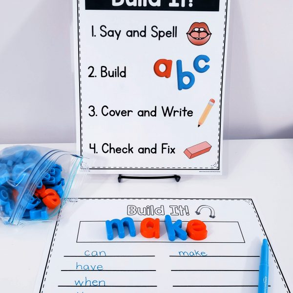 Multisensory Sight Word Centers with Visual Directions