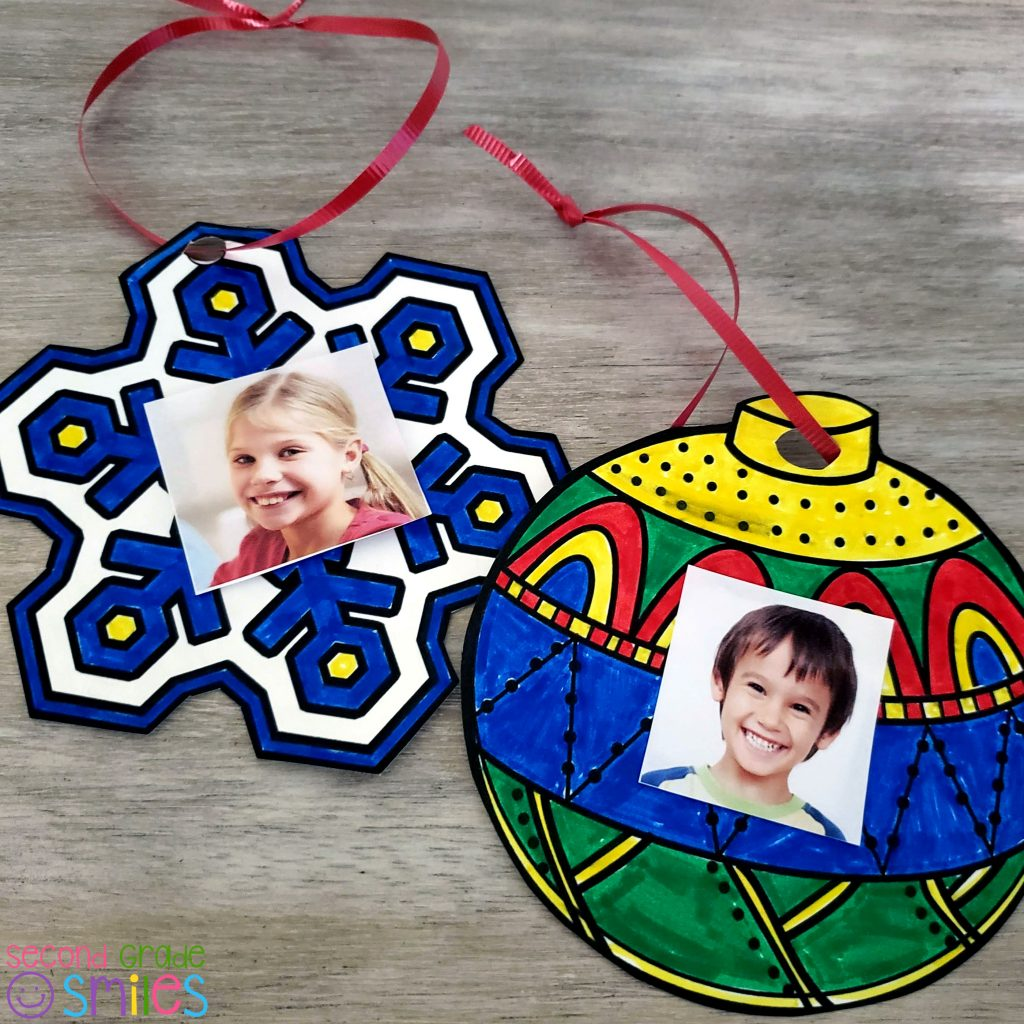 printable holiday ornaments featuring snowflake and Christmas ornament designs