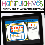 digital math manipulative mats blog post