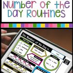 digital number of the day slide on tablet
