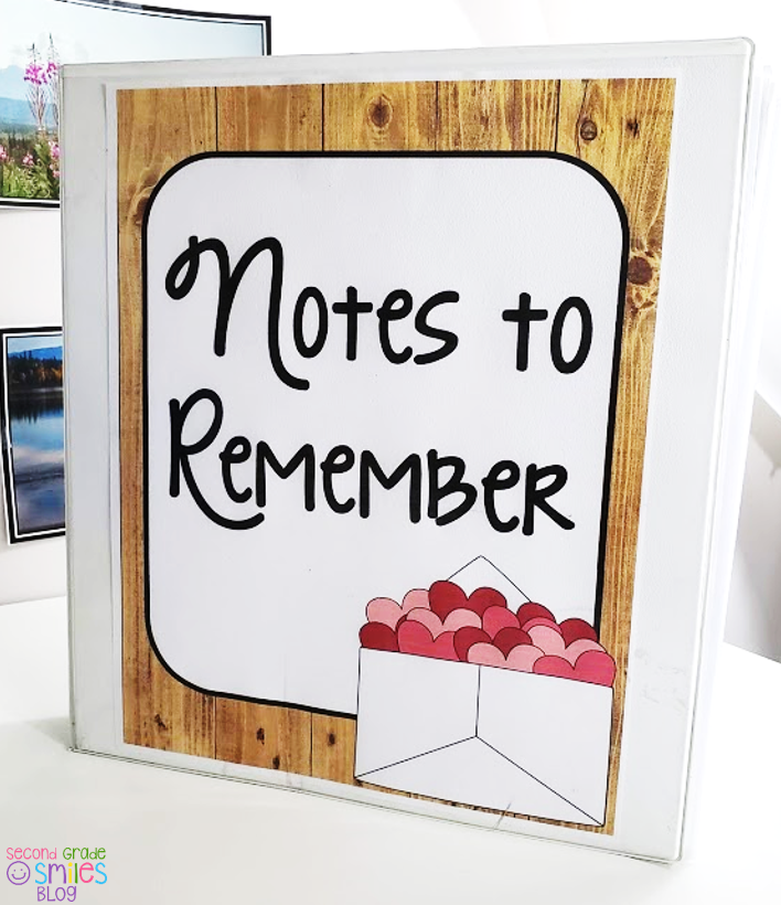 binder with notes to remember free cover page for teachers