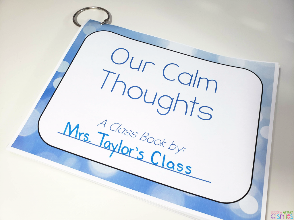 our calm thoughts class book
